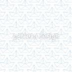 Silhouetten von Papierbooten  Nahtloses Vektormuster