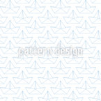 Silhouettes of paper boats Pattern Design