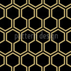 Black Honey Seamless Pattern