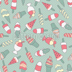 Watermelon Ice Seamless Vector Pattern
