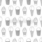 Ice-cream cones Seamless Vector Pattern Design