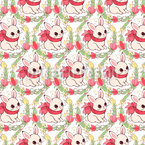 Decorated Easter Bunnies Pattern Design