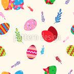 Ornate Easter Eggs Design Pattern