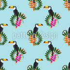 Toucan On The Lookout Seamless Vector Pattern