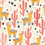 Llamas With Pajamas Repeat Pattern