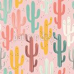 Charmant cactus Motif Vectoriel Sans Couture