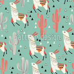 Llamas All Over Pattern Design