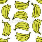 Banana Bouquet Seamless Vector Pattern Design