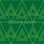 Triangular Trees Seamless Vector Pattern Design