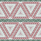 Triangles in Stripes Seamless Vector Pattern Design