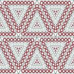 Kunstvolle Verzierte Dreiecke Nahtloses Vektormuster