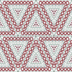 Ornate Triangles Seamless Vector Pattern Design