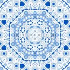 Octógonos e linhas embelezados Design de padrão vetorial sem costura