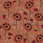 Boheme Fantasyflowers Brown Seamless Vector Pattern Design