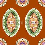 Escudo Ornamental Indígena Design de padrão vetorial sem costura