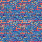 Ein Meer Von Seegras Nahtloses Muster