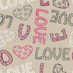 Liebe Ist Alles Was Du Brauchst Nahtloses Vektor Muster