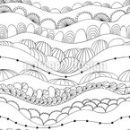 Hills After Hills Vector Pattern