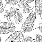 Aging Feathers Seamless Vector Pattern Design