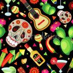 Cinco De Mayo Feiertag Nahtloses Vektormuster
