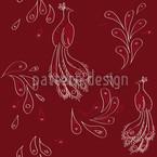Maharani Rot Musterdesign