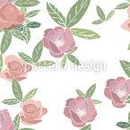 Rosen im Frühjahr Nahtloses Vektormuster