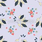 Blumen Und Blatt Vektor Ornament