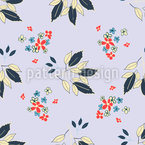 Floral And Leaf Vector Ornament