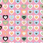Ataque cardíaco Design de padrão vetorial sem costura