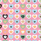 Herz Attacke Nahtloses Vektor Muster