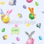 Shrunken Easter Bunny Vector Design