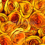 Roses All Over Vector Pattern