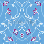 Flower Branches On The Gothic Gate Seamless Pattern