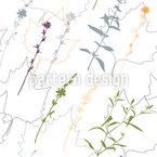 Kräuter Und Blätter Designmuster