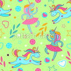Cartoon Unicorns Seamless Pattern