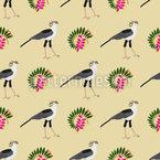Afrikanische Vögel Und Pflanzen Nahtloses Vektormuster