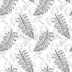 Fern And Monstera Leaves Repeat