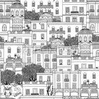Houses of Athens Seamless Pattern