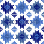 Geometric Abstract Ikat Seamless Vector Pattern