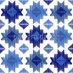 Geometrisch abstraktes Ikat  Nahtloses Vektor Muster