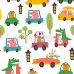 Funny City traffic Vector Design