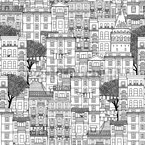 Houses of Istanbul Pattern Design