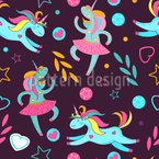 Dancing Unicorns Repeat Pattern