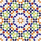 Multi-colored Mosaic Muster Design