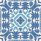 Mosaik im Zentrum Nahtloses Vektor Muster