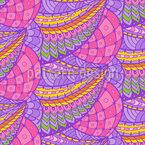 Ninho de Aves Paraíso Design de padrão vetorial sem costura