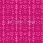 Nordic Flowers Seamless Vector Pattern Design