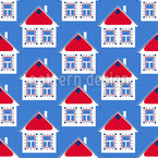 Scandinavian Houses Seamless Vector Pattern Design