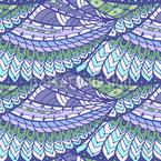 Peixes Voadores Design de padrão vetorial sem costura