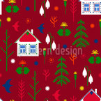 Scandinavian Settlement Seamless Vector Pattern Design